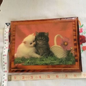 Kittens wood picture